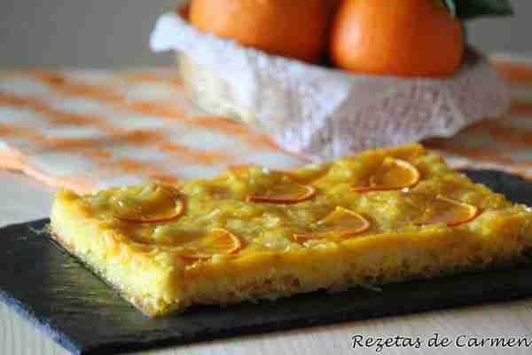 Portokalopita: Pastel de Yogur Griego y Naranjas. Entero